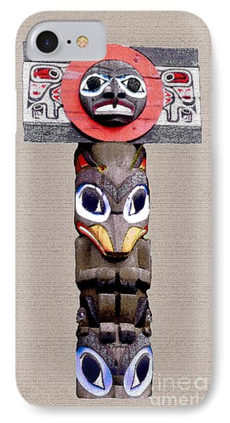 Vancouver Totem - 3 IPhone Case by Linda  Parker