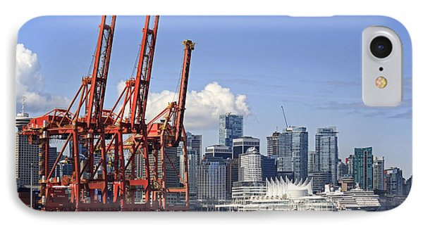 Vancouver Waterfront Skyline IPhone Case by Charline Xia