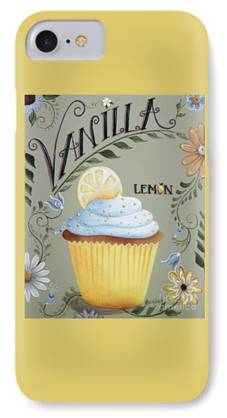 Vanilla Lemon Cupcake IPhone Case by Catherine Holman