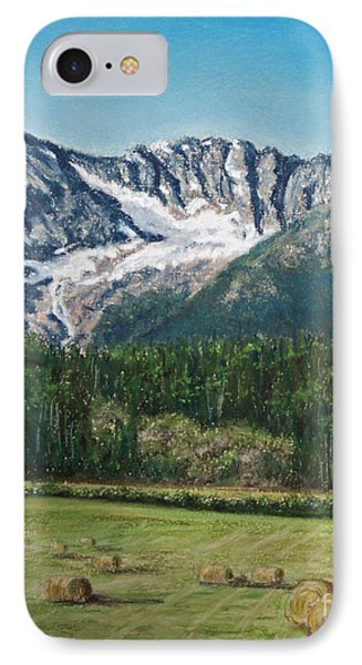 IPhone Case featuring the painting Vanishing Glacier by Stanza Widen