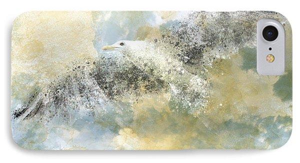 Vanishing Seagull Phone Case by Melanie Viola