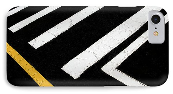 IPhone Case featuring the photograph Vanishing Traffic Lines With Colorful Edge by Gary Slawsky