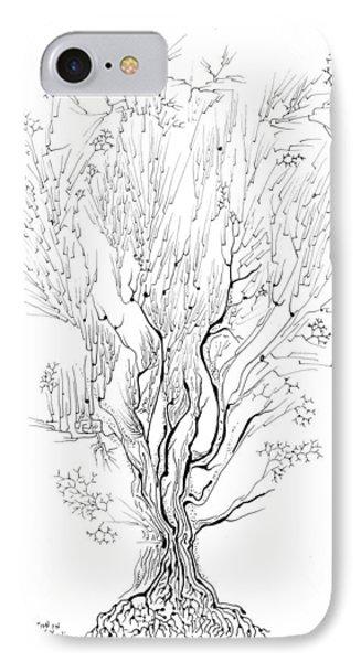 Variation On A Cayley Tree Phone Case by Regina Valluzzi