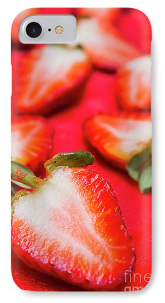 Various Sliced Strawberries Close Up IPhone Case by Jorgo Photography - Wall Art Gallery