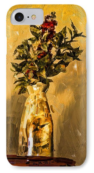 IPhone Case featuring the digital art Vase And Flowers by Dale Stillman