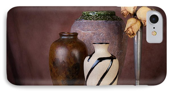 Vase And Roses Still Life IPhone Case by Tom Mc Nemar