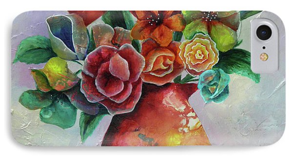 Vase Full Of Peace And Delight IPhone Case by Terry Honstead