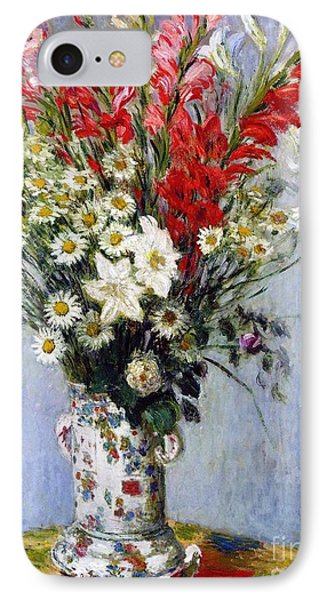 Vase Of Flowers IPhone Case by Claude Monet