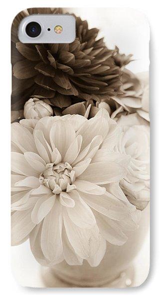 Vase Of Flowers In Sepia IPhone Case by Joni Eskridge