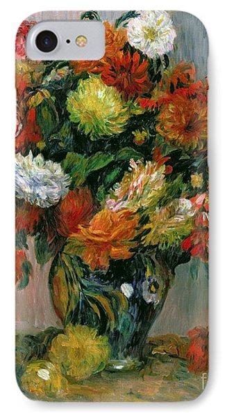 Vase Of Flowers IPhone Case by Pierre Auguste Renoir