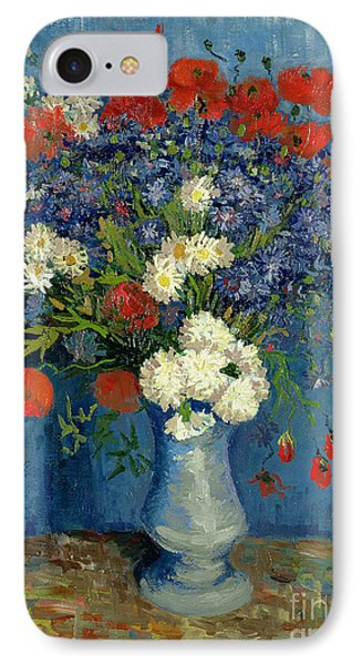 Vase With Cornflowers And Poppies IPhone 7 Case