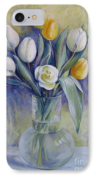 Vase With Flowers IPhone Case by Elena Oleniuc