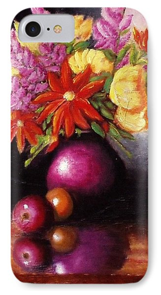 Vase With Flowers IPhone Case by Gene Gregory