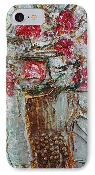 Vase With Roses IPhone Case
