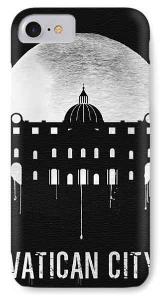 Vatican City Landmark Black IPhone Case by Naxart Studio