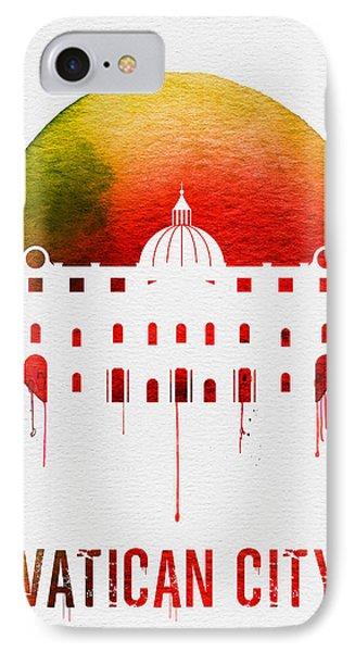 Vatican City Landmark Red IPhone Case by Naxart Studio