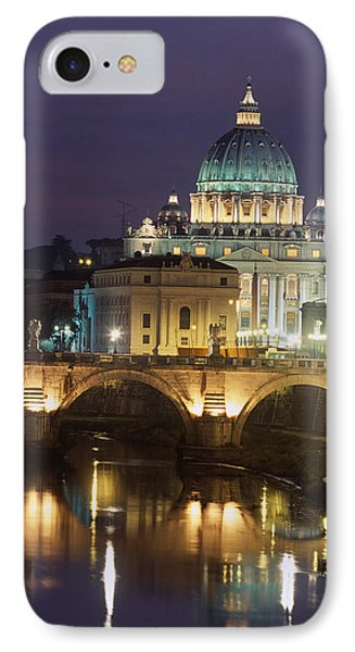 Vatican Skyline  View Of St Peters Basilica In The Evening IPhone Case