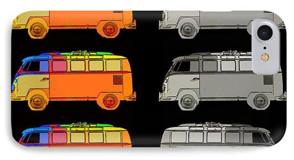 Vdub Surfer Bus Series IPhone Case by Edward Fielding