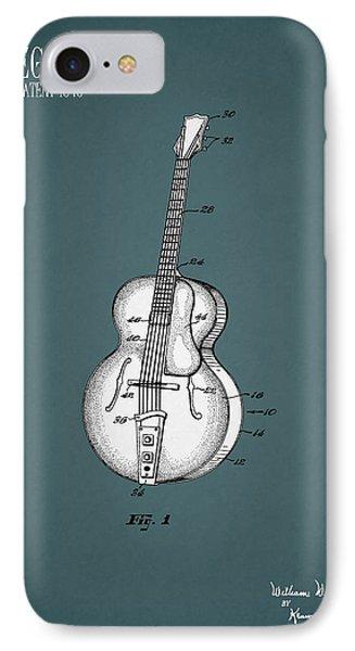 Guitar iPhone 7 Case - Vega Guitar Patent 1949 by Mark Rogan