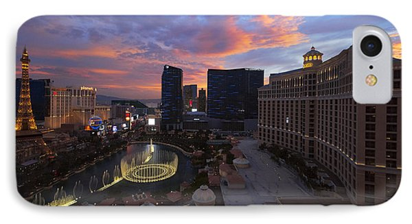 Vegas By Night IPhone Case by Chad Dutson