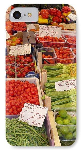Vegetables At Italian Market Phone Case by Carol Groenen