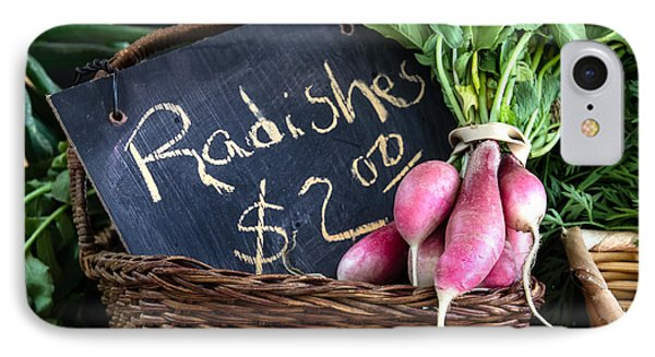 Vegetables Radishes IPhone Case by Betty Denise