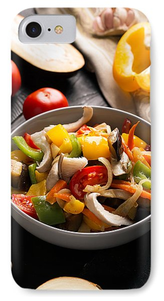 Vegetables Stir Fry IPhone Case by Vadim Goodwill