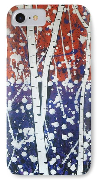 Aspen Trees On The Lake IPhone Case by Vesna Antic