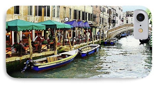 Venetian Cafes Phone Case by Ellen Henneke