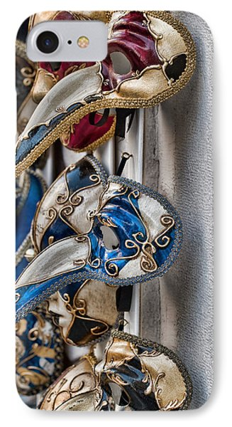 Venetian Carnival Masks IPhone Case by Kim Wilson