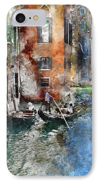 Venetian Gondolier In Venice Italy IPhone Case