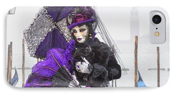 Venetian Lady In Purple IPhone Case