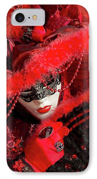 Venetian Lady In Red II  IPhone Case