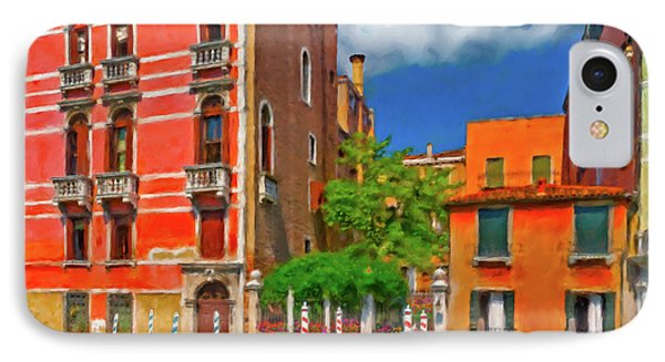 IPhone Case featuring the photograph Venetian Patio by Juan Carlos Ferro Duque