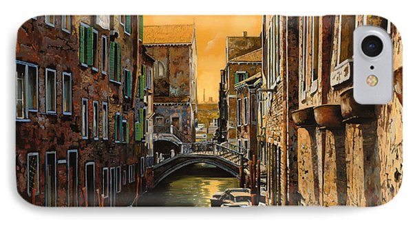 Venezia Al Tramonto IPhone Case by Guido Borelli