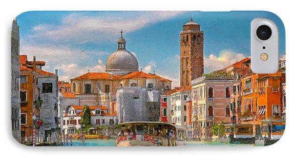 Venezia. Fermata San Marcuola IPhone Case by Juan Carlos Ferro Duque