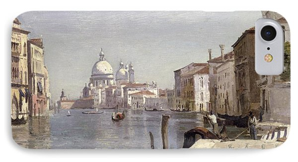 Venice - View Of Campo Della Carita Looking Towards The Dome Of The Salute IPhone Case by Jean Baptiste Camille Corot