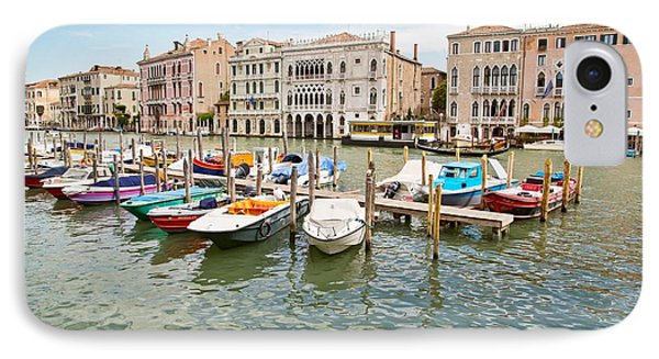 IPhone Case featuring the photograph Venice Boats by Sharon Jones