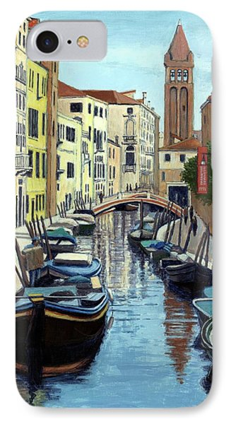 Venice Canal Reflections IPhone Case by Janet King