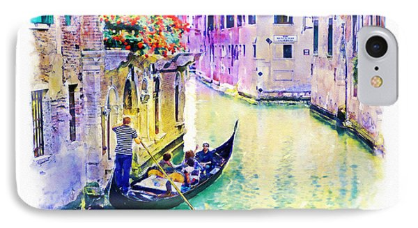 Venice Canal IPhone Case by Marian Voicu