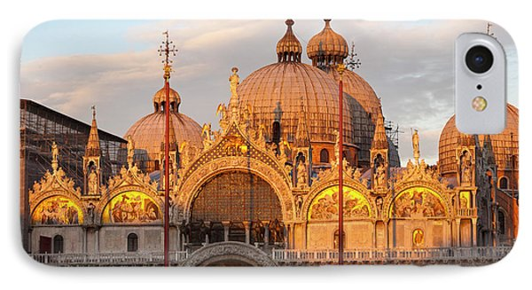 Venice Church Of St. Marks At Sunset Phone Case by Heiko Koehrer-Wagner