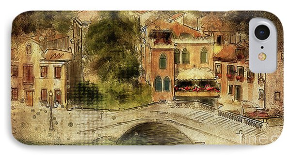 Venice City Of Bridges IPhone Case by Lois Bryan