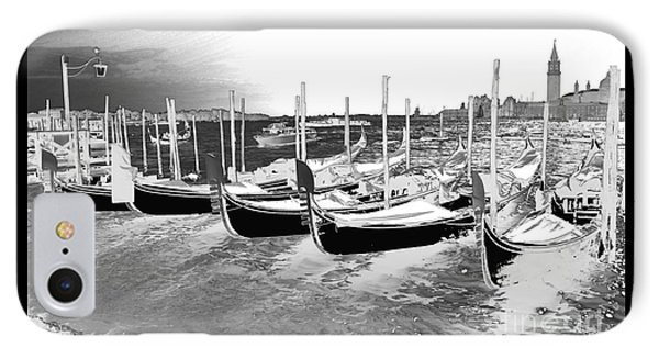 Venice Gondolas Silver IPhone Case by Rebecca Margraf