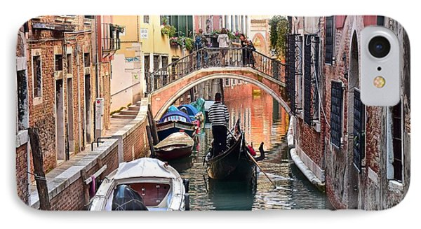 Venice Gondolier IPhone Case by Frozen in Time Fine Art Photography