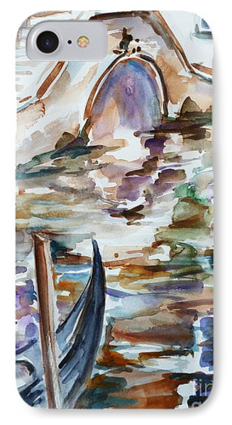 IPhone Case featuring the painting Venice Impression I by Xueling Zou