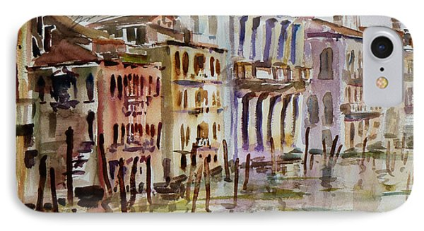 IPhone Case featuring the painting Venice Impression II by Xueling Zou