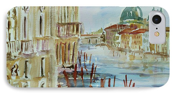 IPhone Case featuring the painting Venice Impression IIi by Xueling Zou