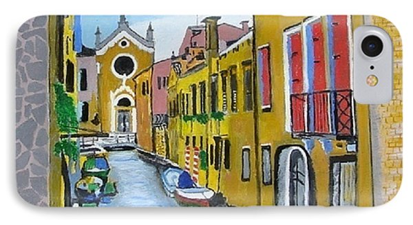 IPhone Case featuring the painting Venice In September by Rod Jellison