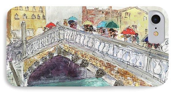 Venice In The Rain IPhone Case by Barbara Anna Knauf