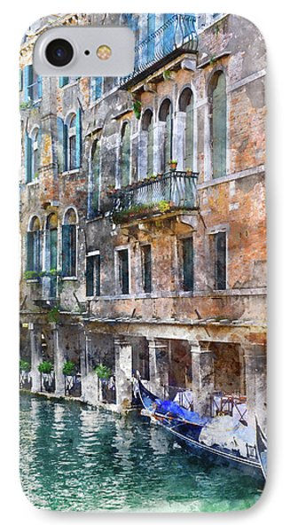 Venice Italy Buildings And Gondolas IPhone Case by Brandon Bourdages